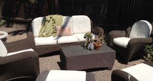 Painting Outdoor Cushions with Chalk Paint