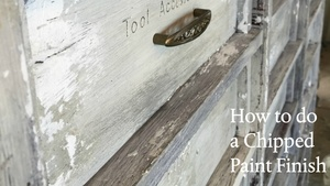 How to do a Chipped Paint Finish
