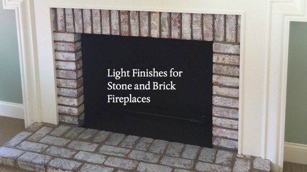 Light Finishes for Stone and Brick Fireplaces