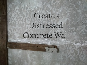 Distressed Concrete Wall