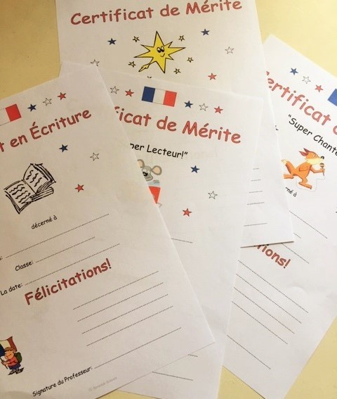 French Certificates of Merit
