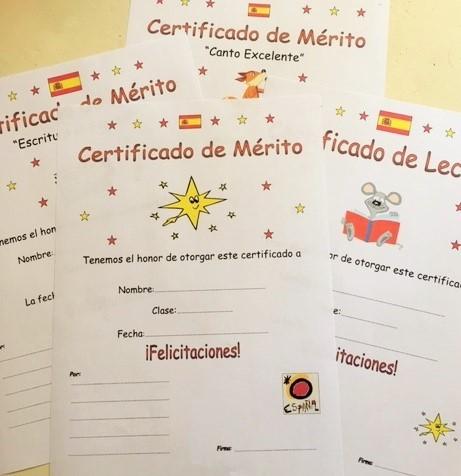 Spanish Certificates of Merit