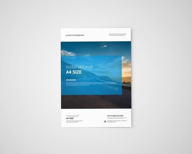 A4 Flyer Mock-Ups