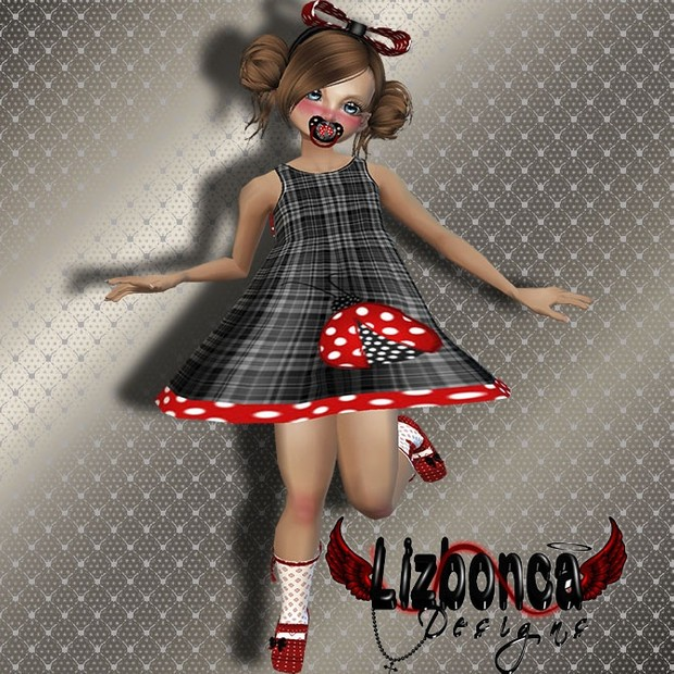 B-Girl1 (Dress - Head Tie - Shoes with socks-Pacifier)