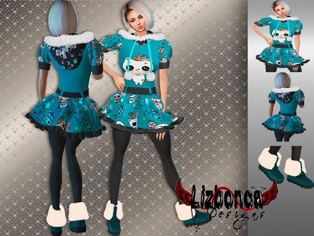 Imvu Turquoise Dress and Shoes for Mommy (Free for VIPS)