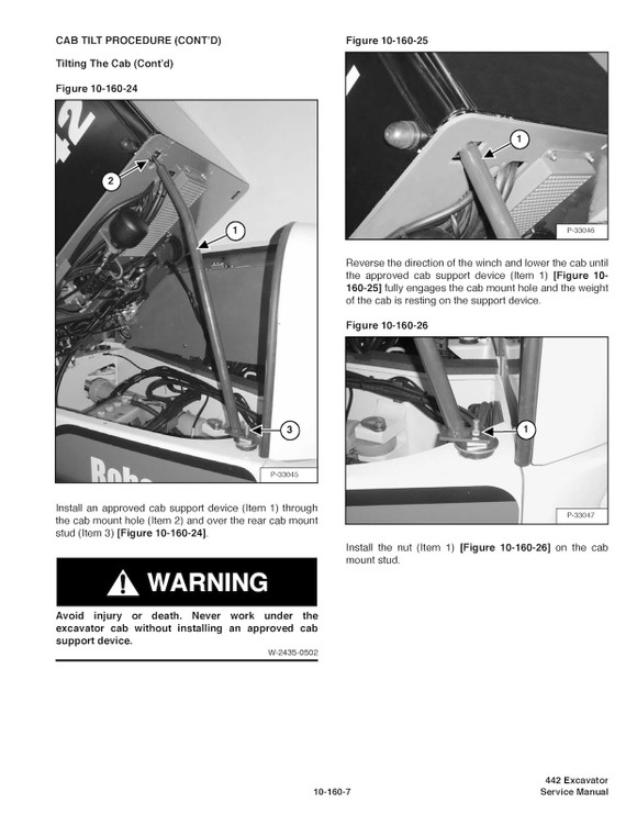 Bobcat 442 Compact Excavator  Oem Factory Service Repa
