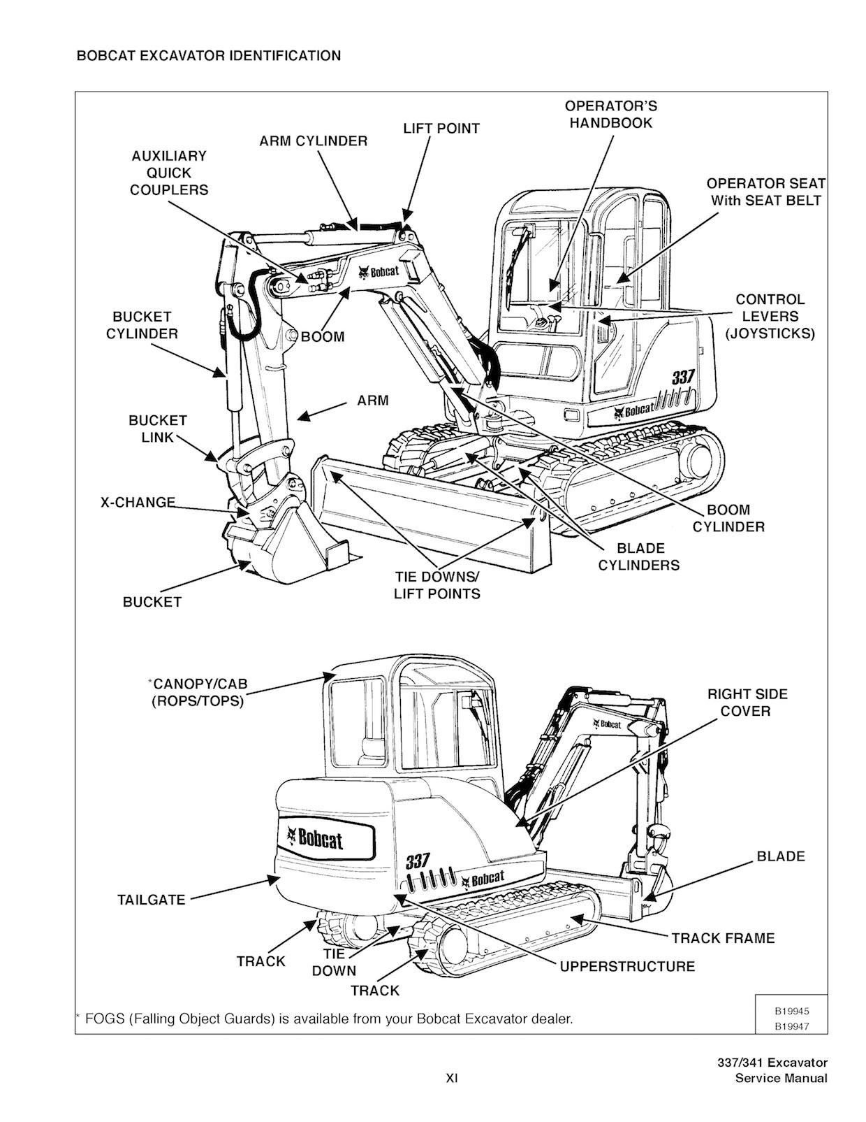 Bobcat 337 341 Oem Service And Repair Manual