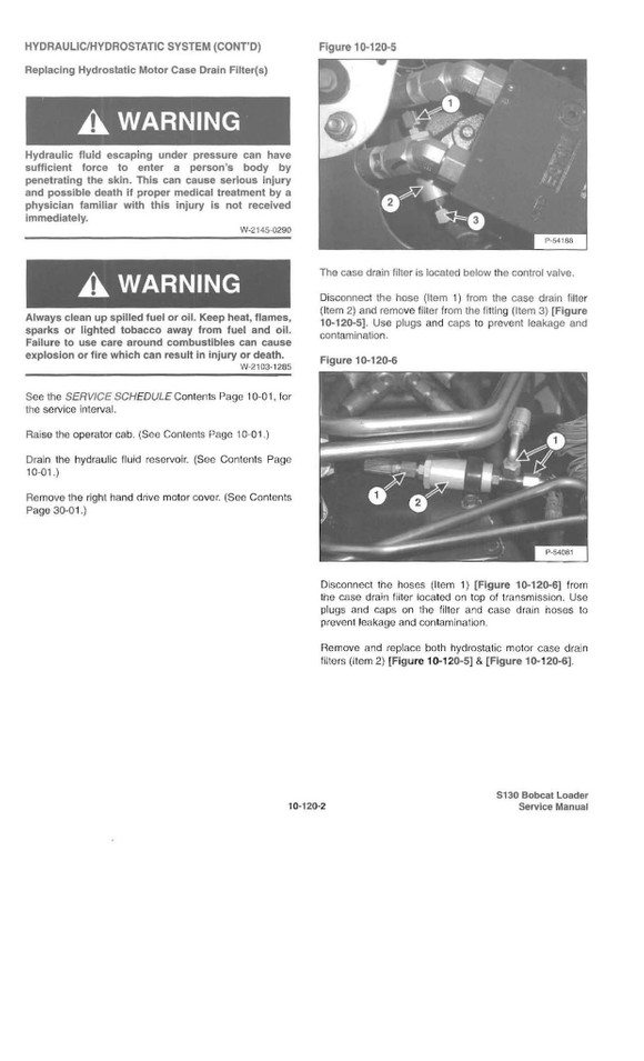 Bobcat S130, OEM Service Repair Manual and Parts Manual