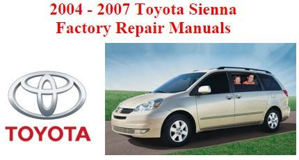 2004 2007 toyota sienna oem workshop service and repai rh sellfy com 2015 toyota sienna factory service manual 2000 toyota sienna factory service manual