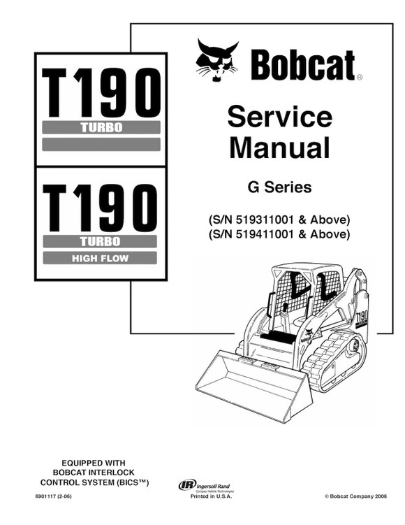 Bobcat T190 Turbo and Turbo High Flow, OEM Service and