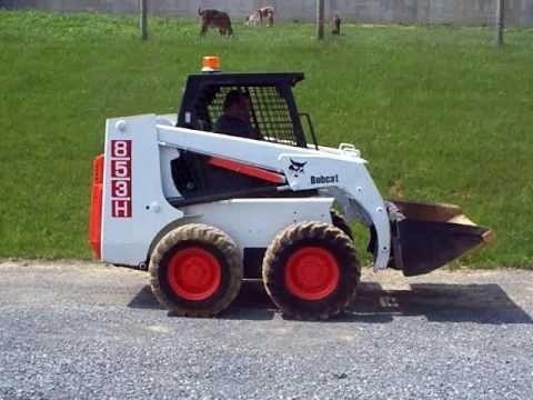 Bobcat 853 and 853H Skid Steer Loader, Factory Service and Repair Manual (PDF)