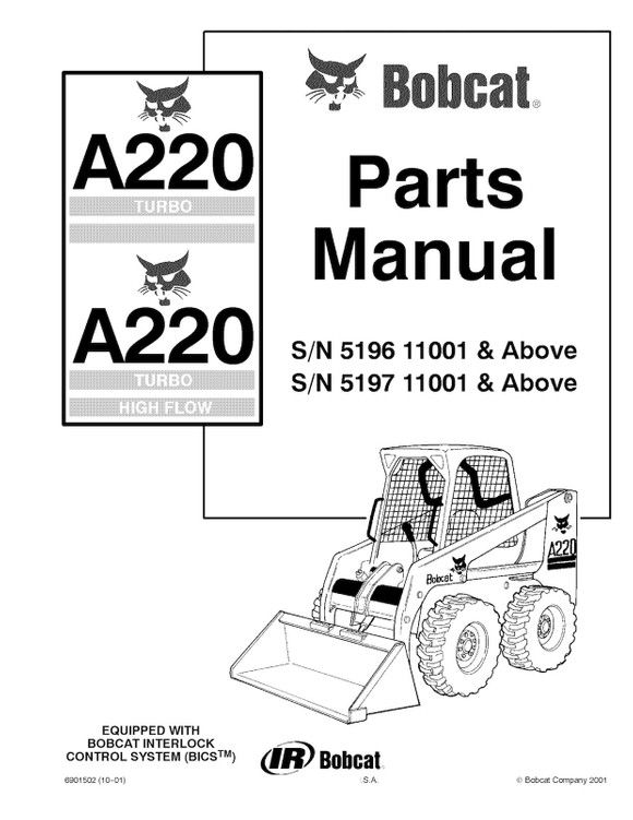 Bobcat A220 Turbo and Turbo High Flow, OEM Service Rep