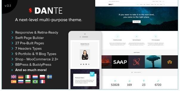 Dante v3.15 – Responsive Multi-Purpose WordPress Theme