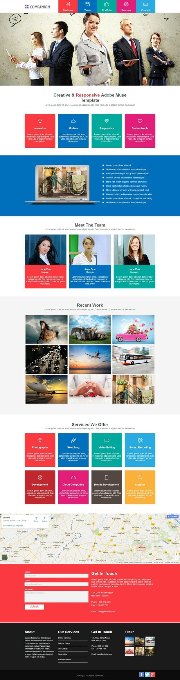 Companion - Creative e Responsive Adobe Muse