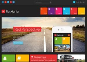 Flatmania - Flat Landing Page