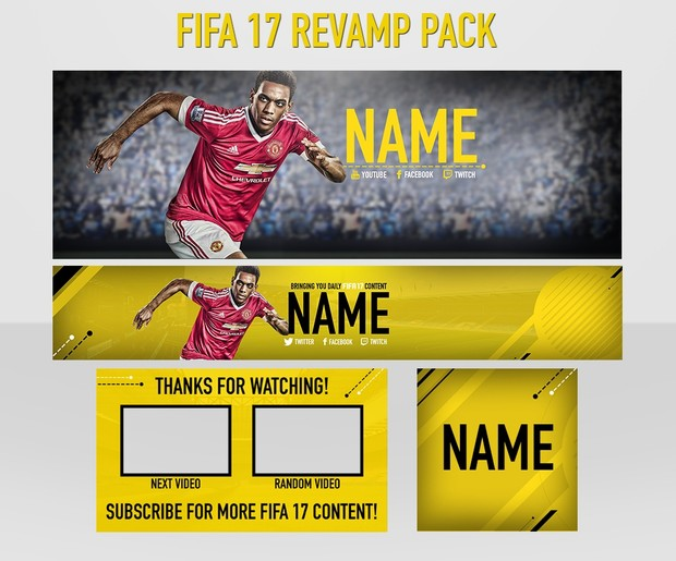 FIFA 17 Revamp: Header, Avi, Youtube banner and Outro