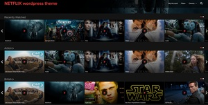 NETFLIX  wordpress theme premium