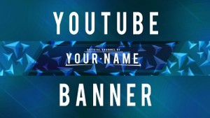 Geometrical YouTube banner