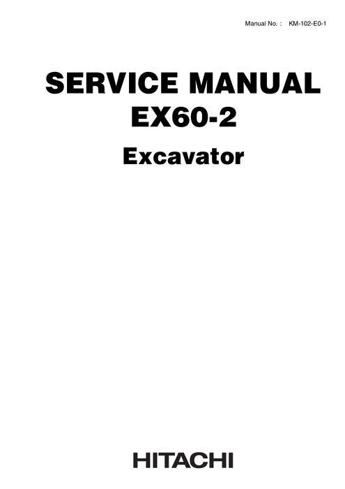 Hitachi Technical Manual + Workshop Manual EX60-2 Hydr