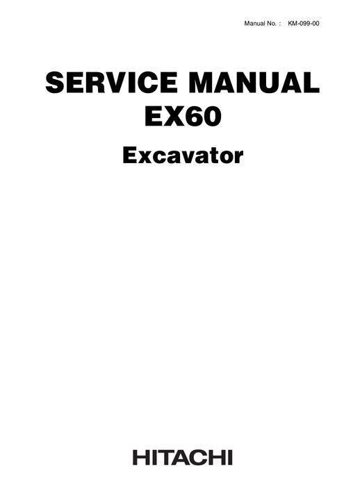Hitachi Service Manual EX60 Hydraulic Excavator KM0990