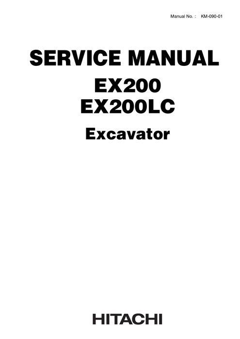 Hitachi Service Manual EX200, EX200LC Hydraulic Excava