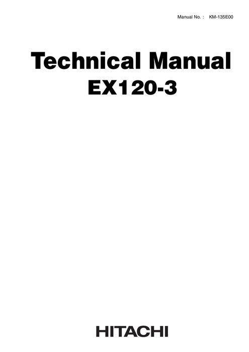 Hitachi Technical Manual + Workshop Manual EX120-3 Hyd