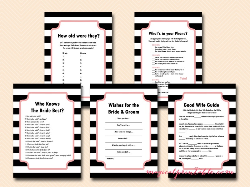 image relating to Bridal Games Printable titled Crimson Stylish Bridal Shower Activity Printables