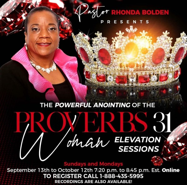 MAKE 2 PMTS. The Powerful Anointing of the PROVERBS 31 Woman 10 Sessions ONLINE