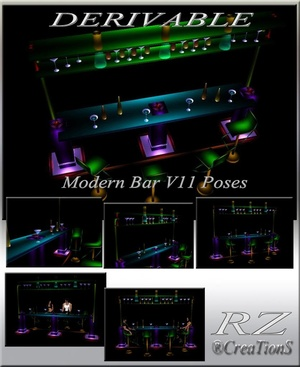 184. Modern V 11 Bar With Poses Mesh Furniture