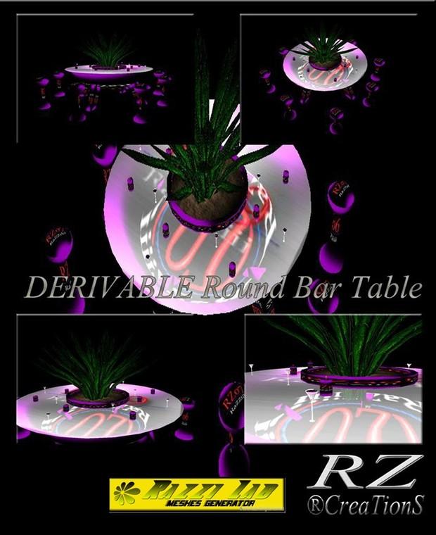 106. Round Bar Table Mesh Furniture