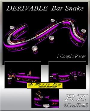 97. Bar Snake 1 Poses Mesh Furniture