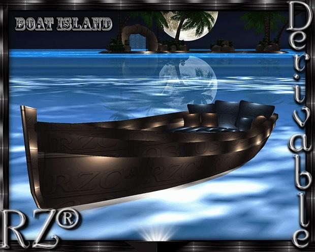 40. Boat Island Animation Mesh Furniture