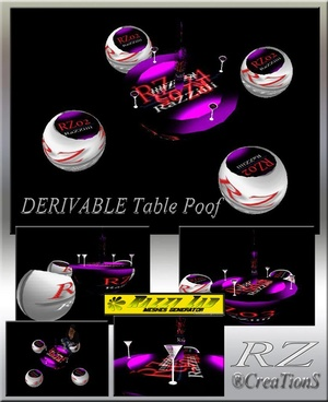 94. Table Poof Mesh Furniture