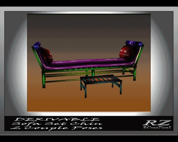73. Sofa Set Chin 2 couple poses Mesh Furniture