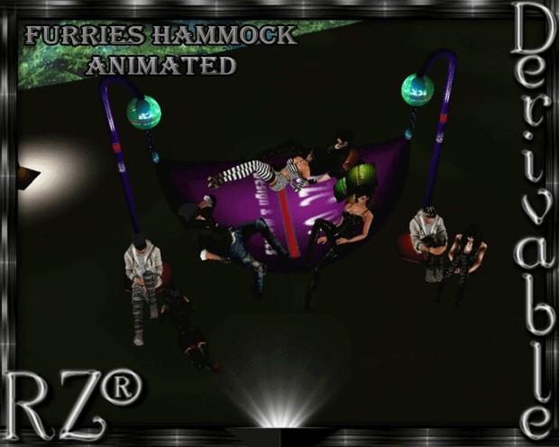79. Furry Hammock Animation 8 poses Mesh Furniture