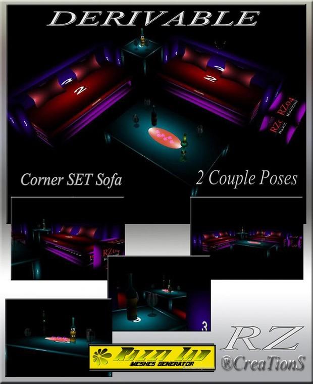 117. Corner Set Sofa Mesh Furniture