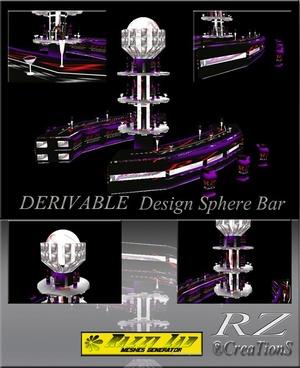 112. Design Sphere Bar Mesh Furniture