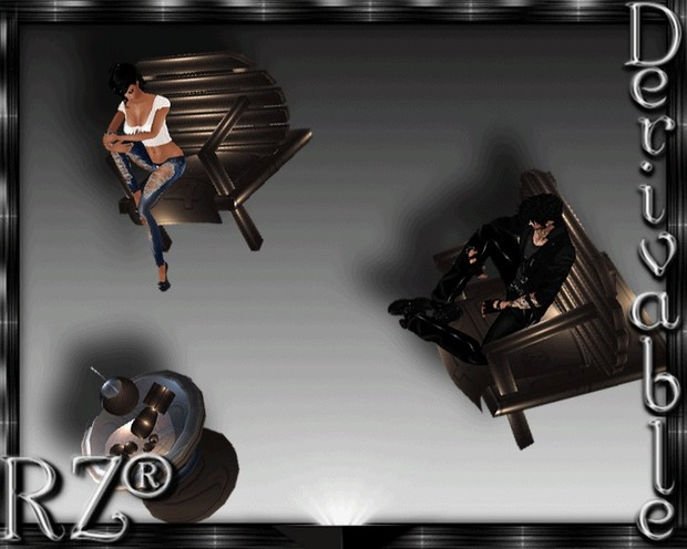 131. Tiki Chair X4 With 4 Poses Mesh Furniture