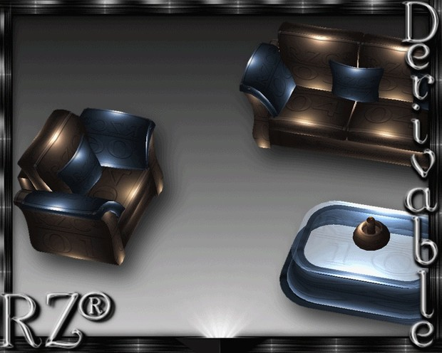126. Tiki Couch 2015 Without Poses Mesh Furniture