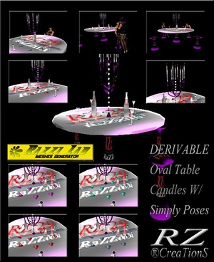 109. Table Candles With Poses Mesh Furniture