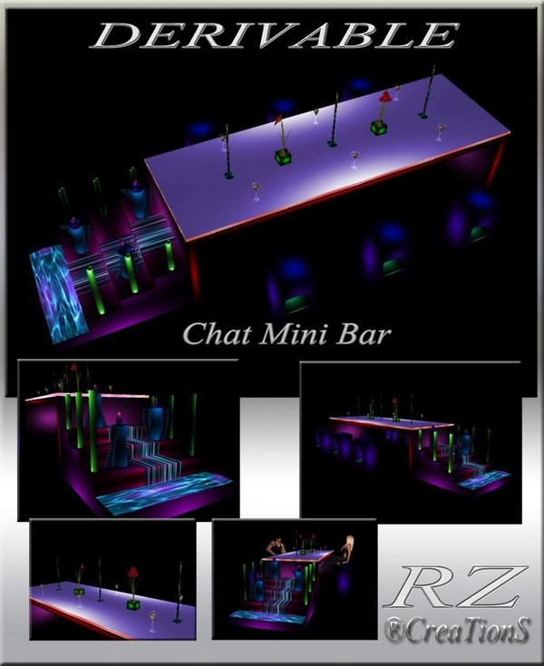 175. Chat Mini Bar Meshes Furniture