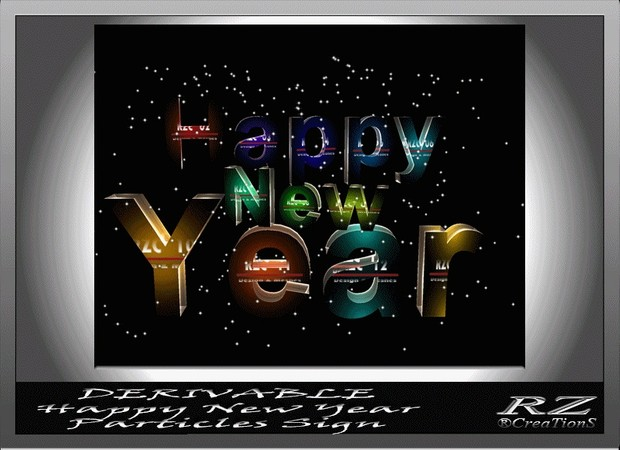 146. Particle Sign Happy New Year Mesh Furniture