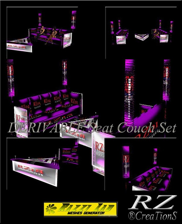 105. Seat Couch Set Mesh Furniture