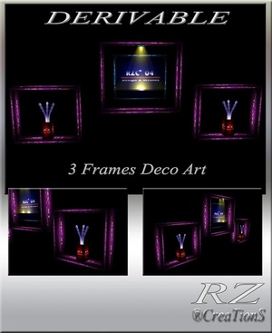 172. 3 Frames Decoration Art Meshes Furniture