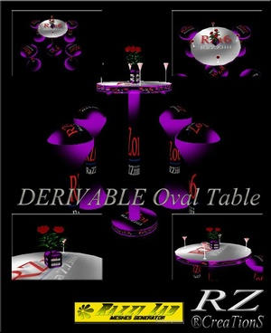 108. Club Oval Table Mesh Furniture