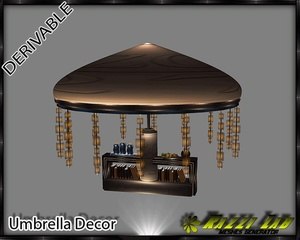 16. Umbrella Decor Mesh Furniture