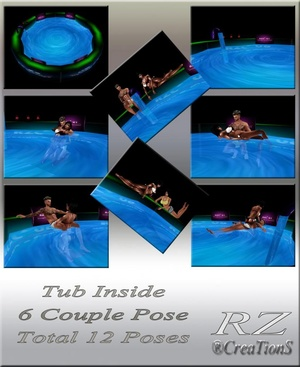 162. Tub Inside With 12 Poses Furniture Mesh