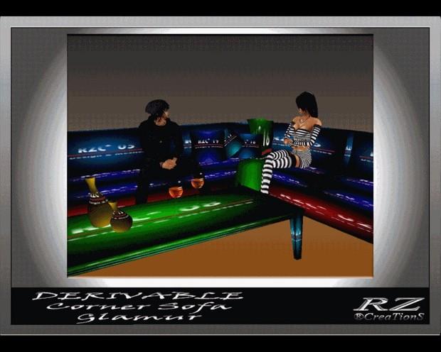 72. Corner Sofa Glam Mesh Furniture