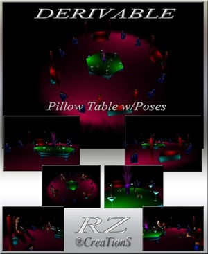 178. Pillow Table With Poses Meshes Furniture