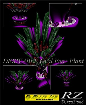 110. Oval Peac Plant Mesh Furniture